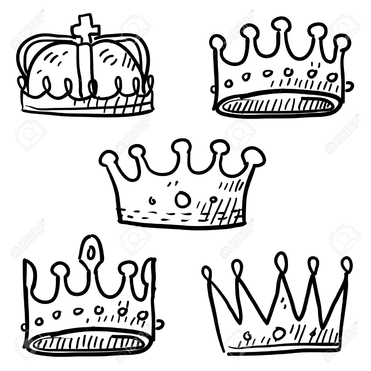 bloodline cliparts stock vector and royalty bloodline bloodline doodle style set of royal crowns in vector format