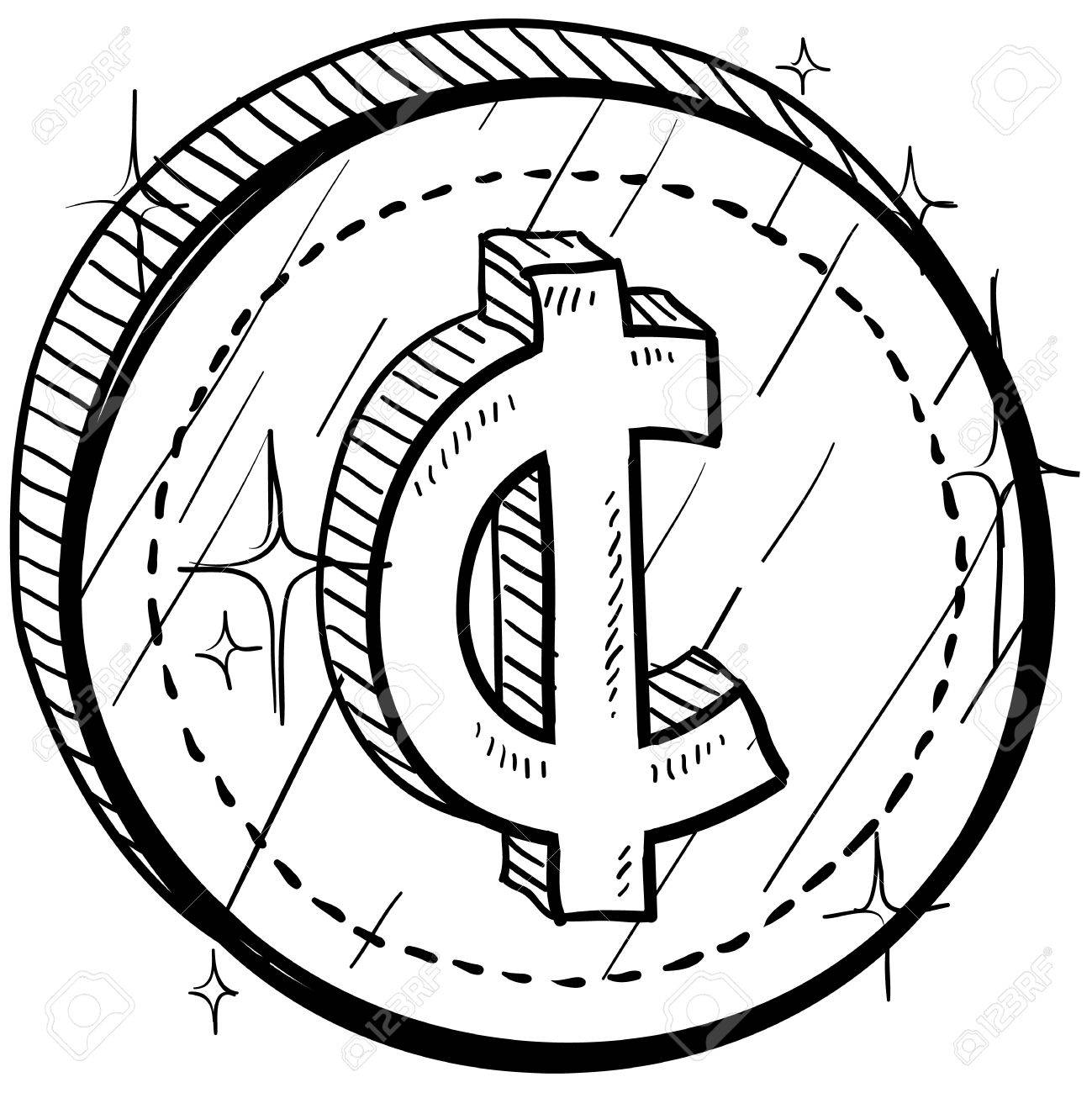 Doodle style coin with currency symbol cent royalty free cliparts doodle style coin with currency symbol cent stock vector 14460852 biocorpaavc Image collections