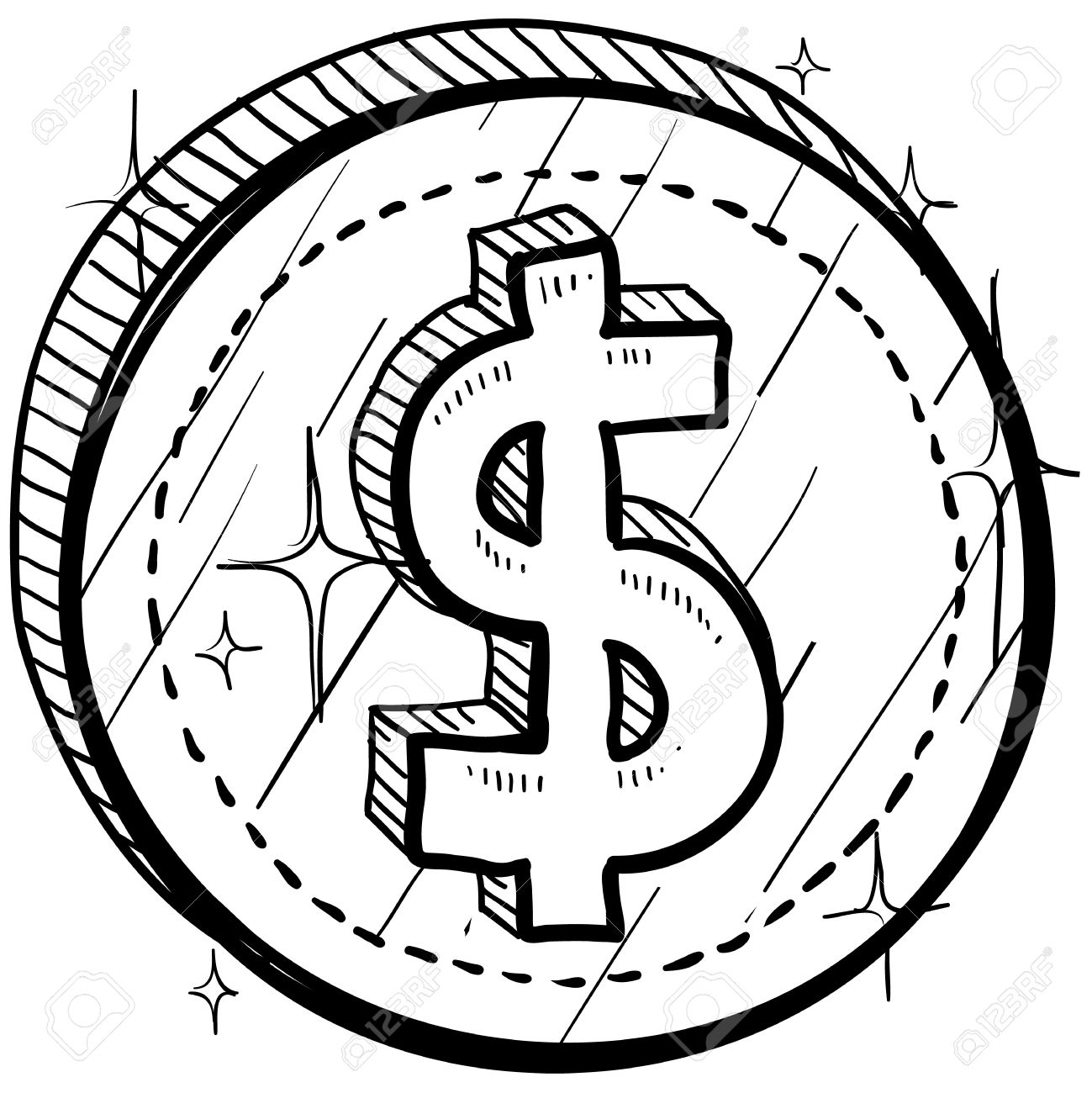 Doodle style coin with currency symbol american dollar doodle style coin with currency symbol american dollar foto de archivo 14460856 biocorpaavc Image collections