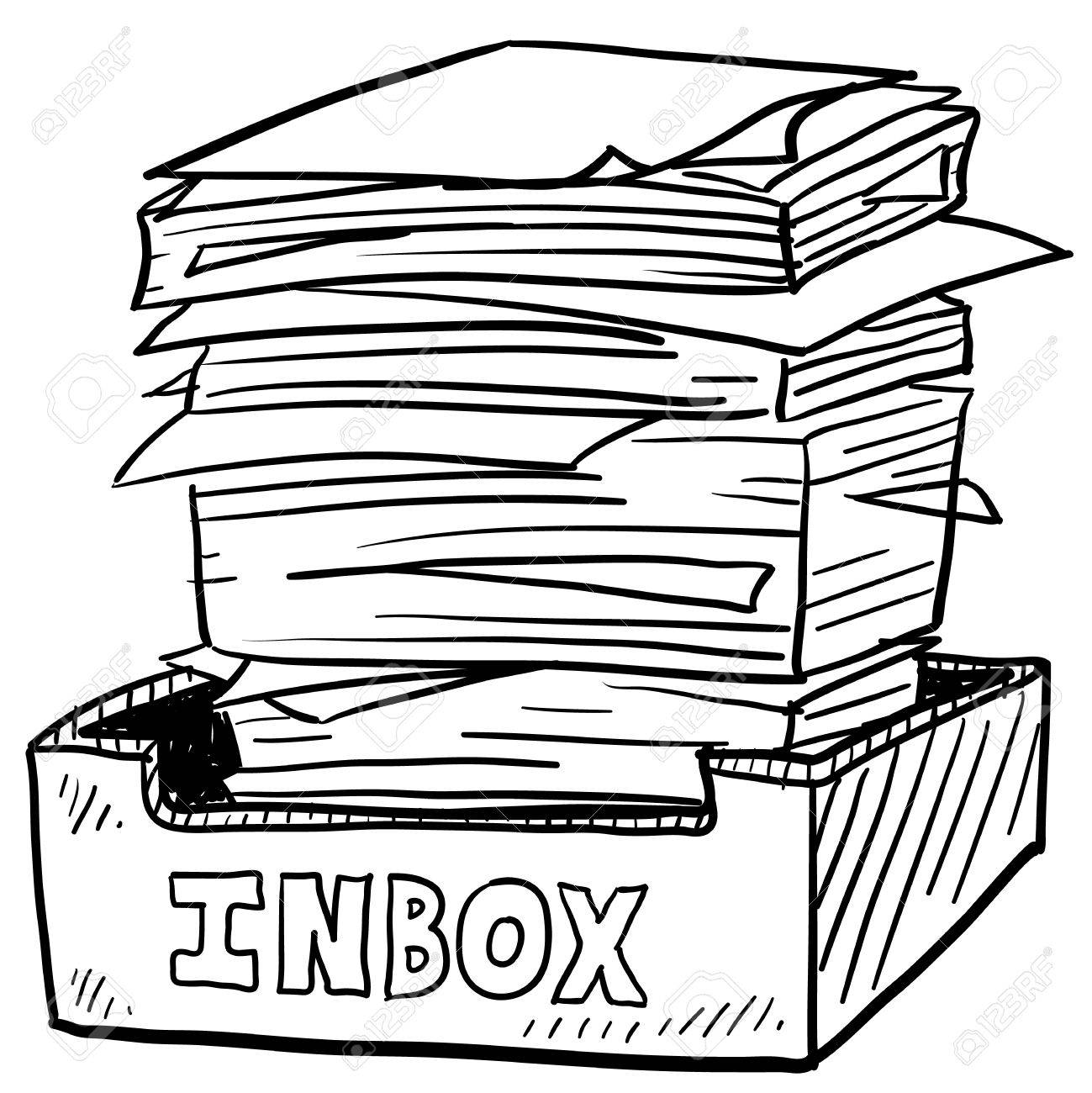 14460862-Doodle-style-inbox-image-with-a
