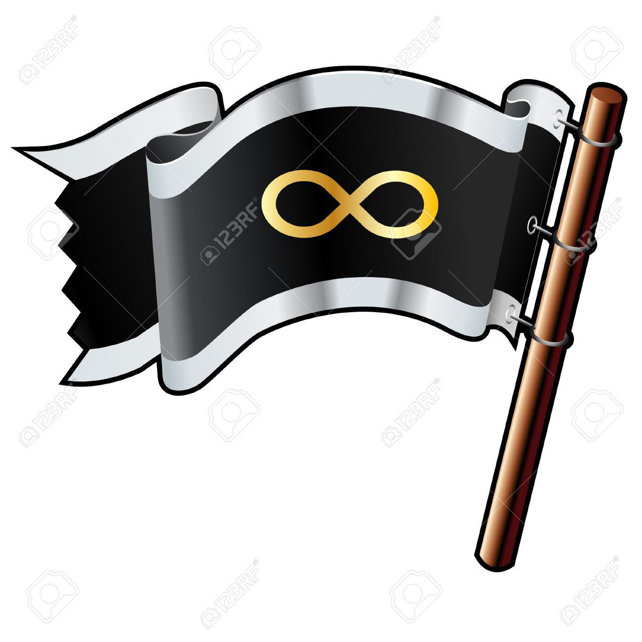 Infinity math symbol on black silver and gold vector flag good infinity math symbol on black silver and gold vector flag good for use on buycottarizona