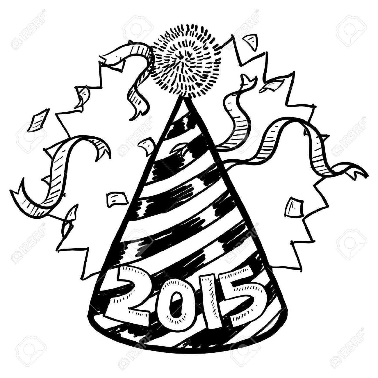 Doodle style New Year ...