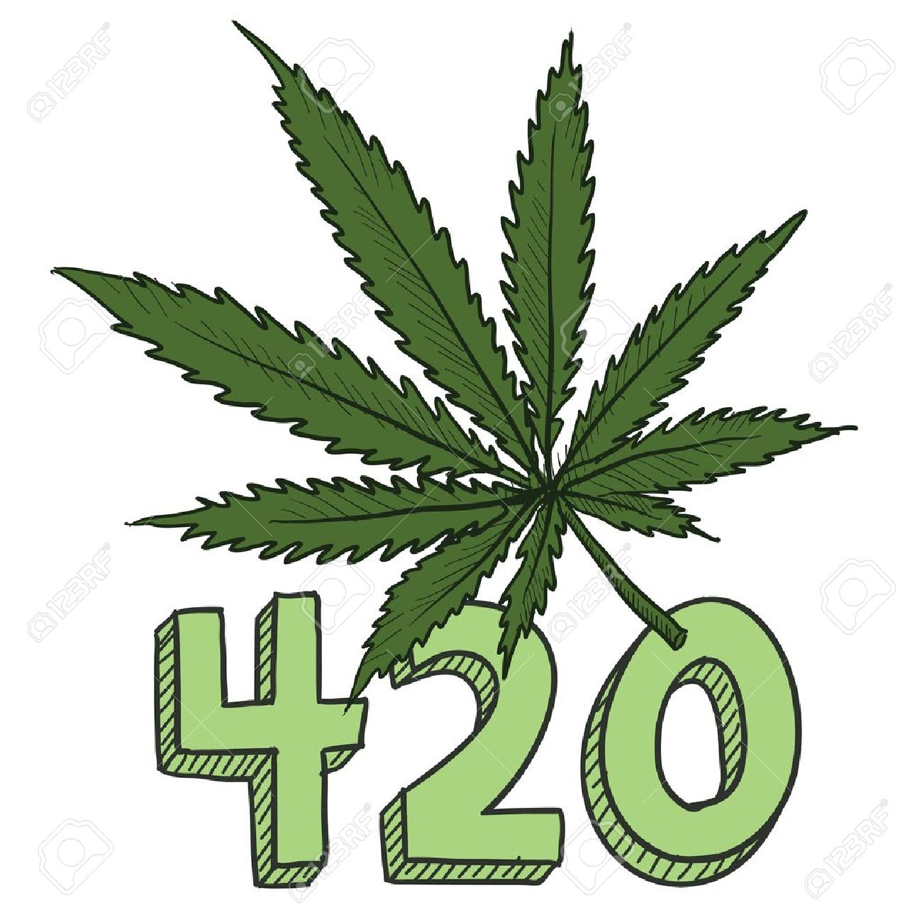 Doodle style 420 marijuana leaf sketch in vector format includes doodle style 420 marijuana leaf sketch in vector format includes text and pot plant stock vector biocorpaavc Choice Image