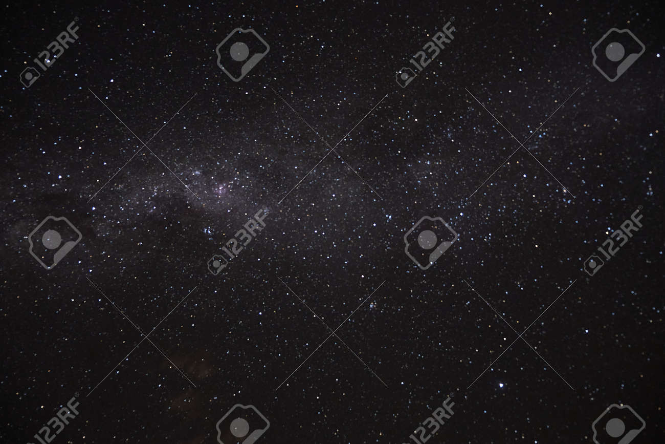 a long exposure of the dark sky with the stars and the milky way and a circumpolar nebulous - 165002233
