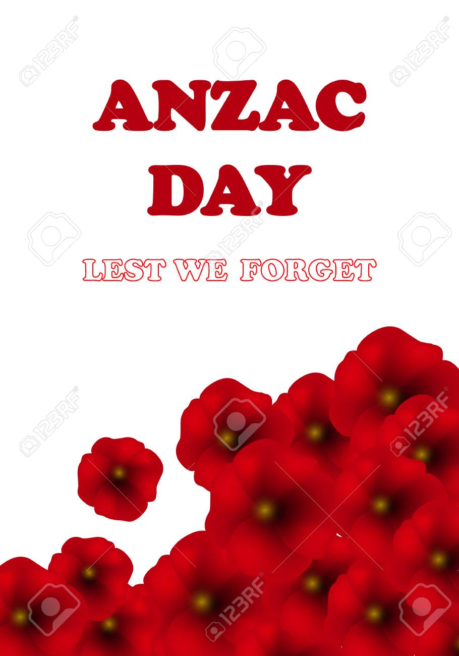 Remembrance Day Anzac Day Veterans Day Background With Poppies