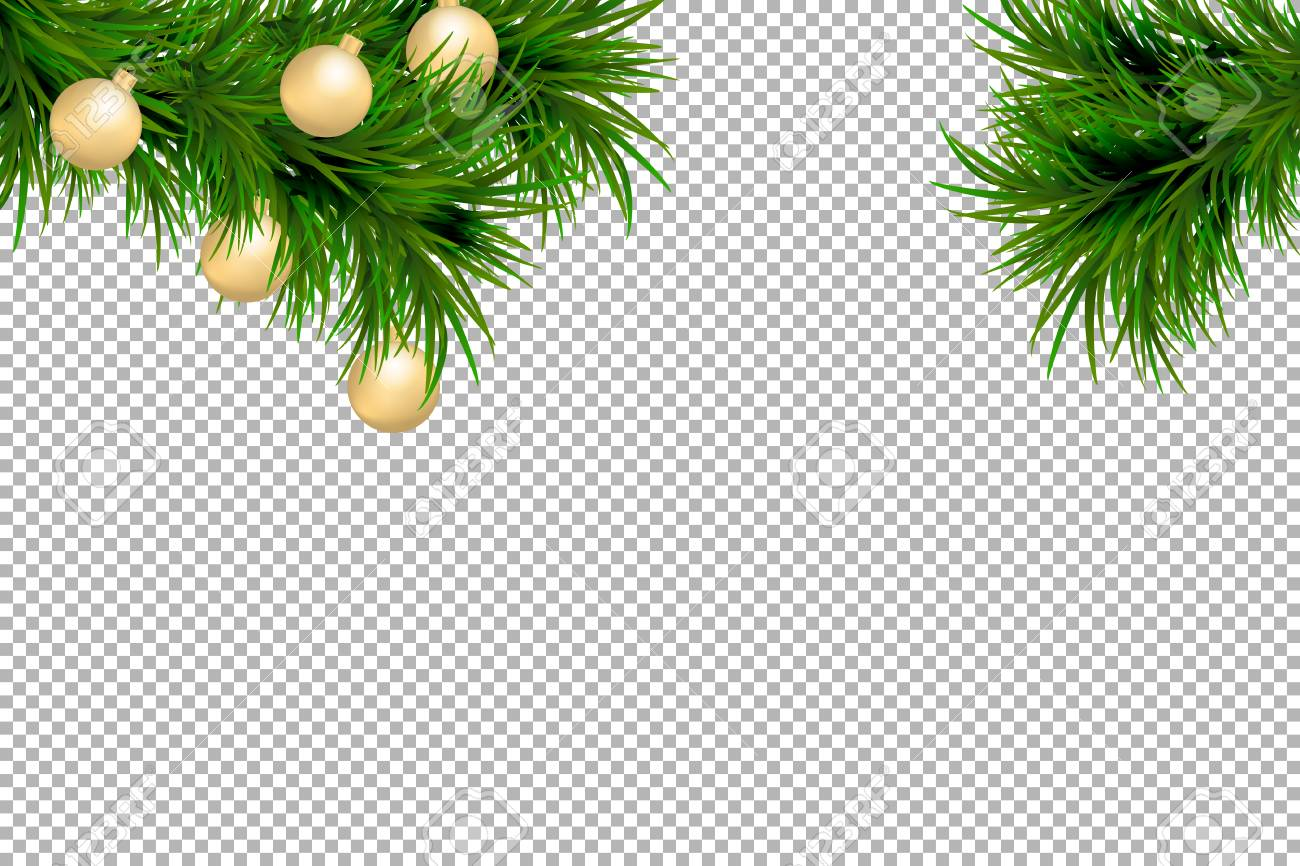 merry christmas and happy new year background with fir branches and