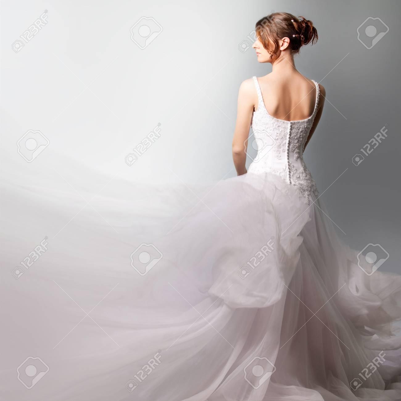 beautiful  bride in a luxurious wedding dress Stock Photo - 9709115
