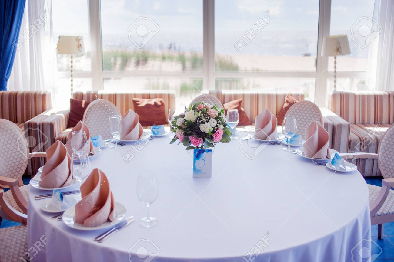 Wedding Banquet Small Restaurant In A Maritime Style Stock Photo Picture And Royalty Free Image Image 61003750