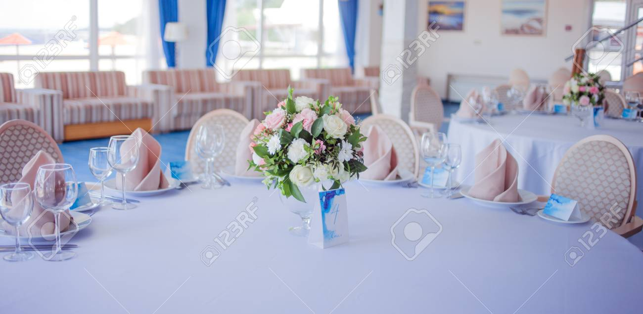Wedding Banquet Small Restaurant In A Maritime Style Stock Photo Picture And Royalty Free Image Image 61003752