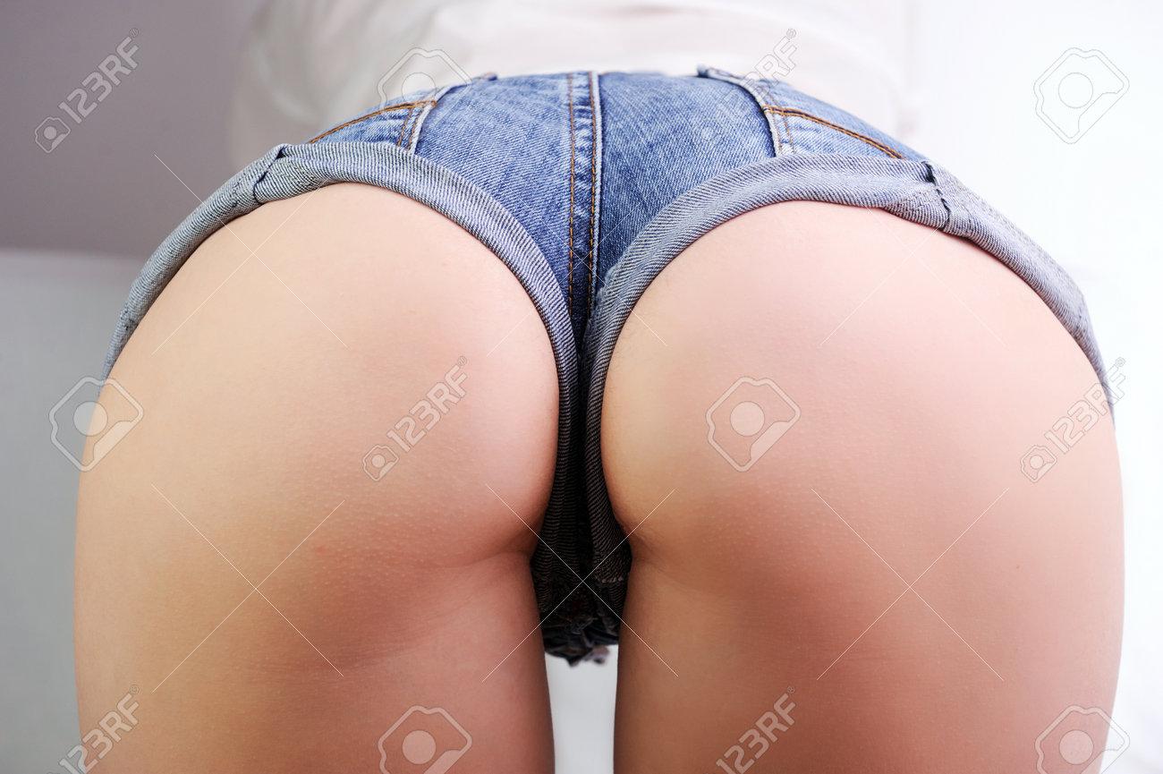 Ass In Jean Shorts