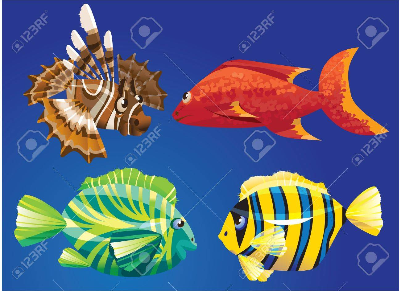 Red Sea Fishes Stock Vector - 11142211