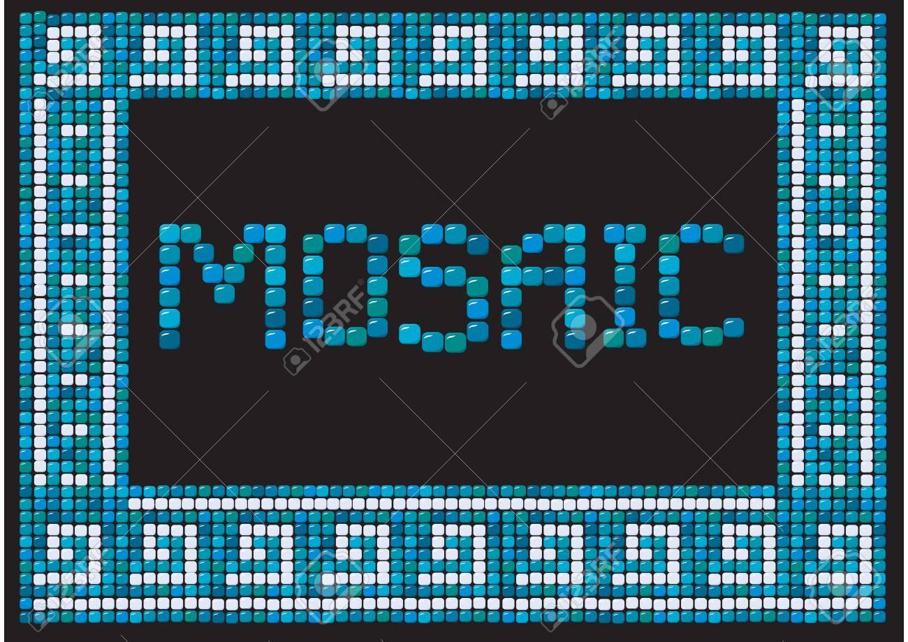 mosaic frame (landscape) Stock Vector - 11142216