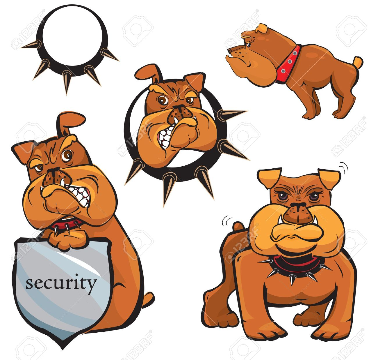 Set of Bulldog cartoons Stock Vector - 12482932