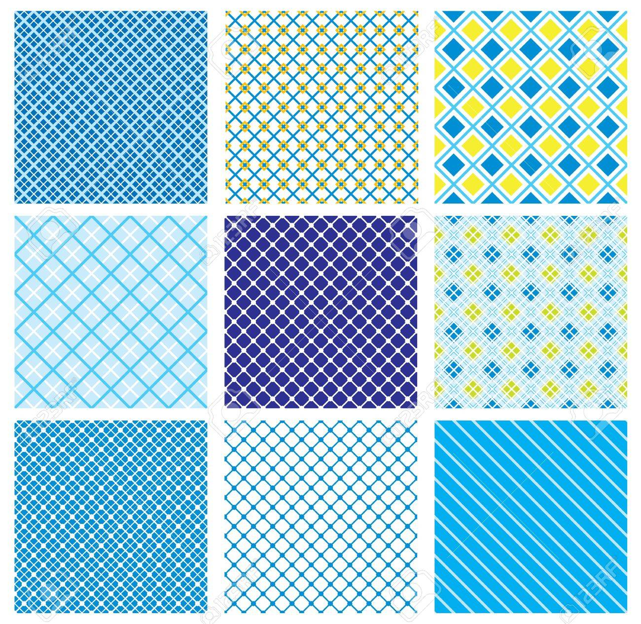 set of seamless patterns with fabric checked textures Stock Vector - 12482929