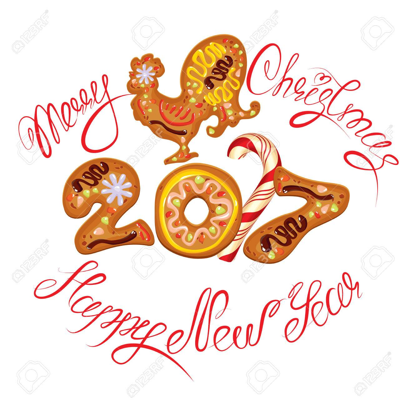 hand written calligraphic text merry christmas and happy new rh 123rf com merry christmas and happy new year clipart 2017