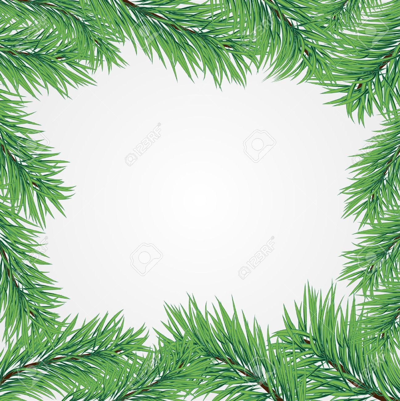 Vector Frame With Christmas Tree Branch Royalty Free Cliparts ...