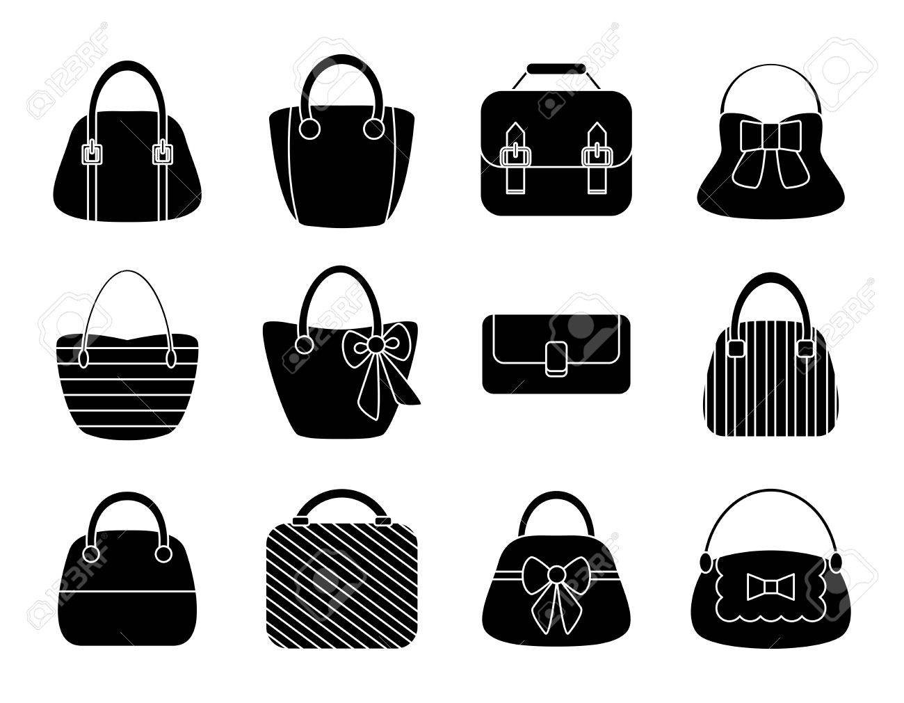 28f170215f Collection of Female Bags Isolated on White Background. Vector Design Stock  Vector - 32312178