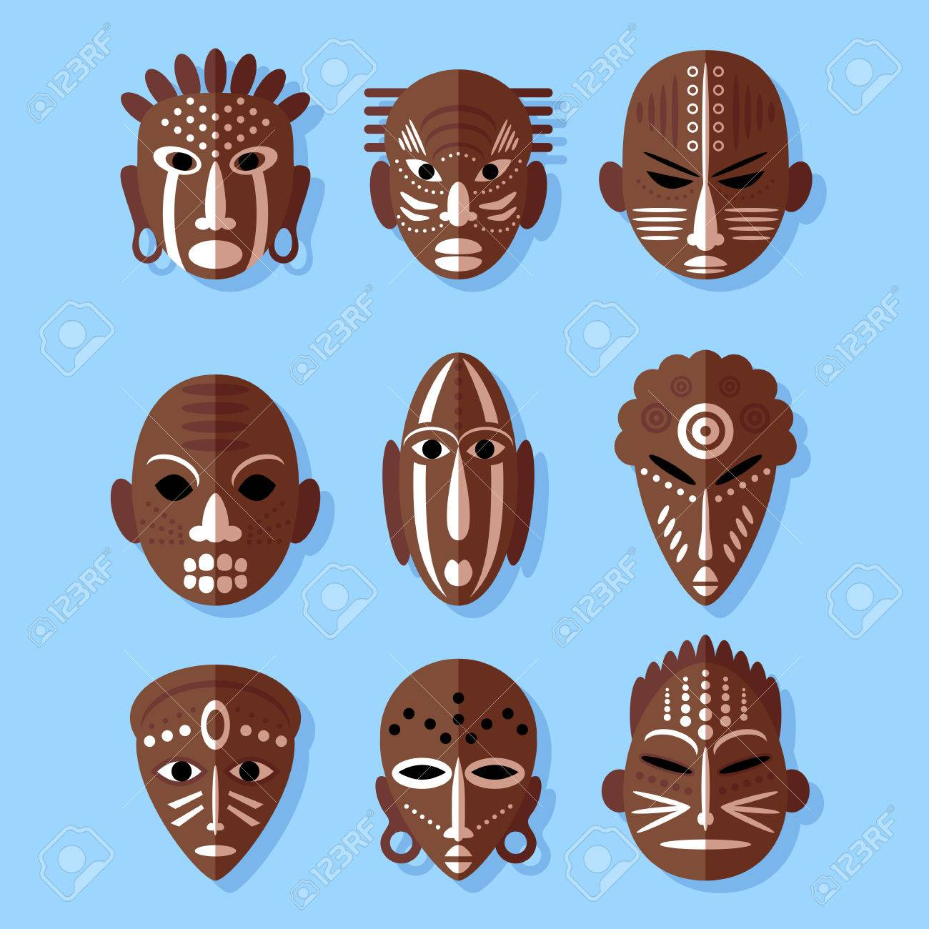 African mask icons flat design tribal ritual symbols royalty free african mask icons flat design tribal ritual symbols stock vector 36268063 biocorpaavc Image collections