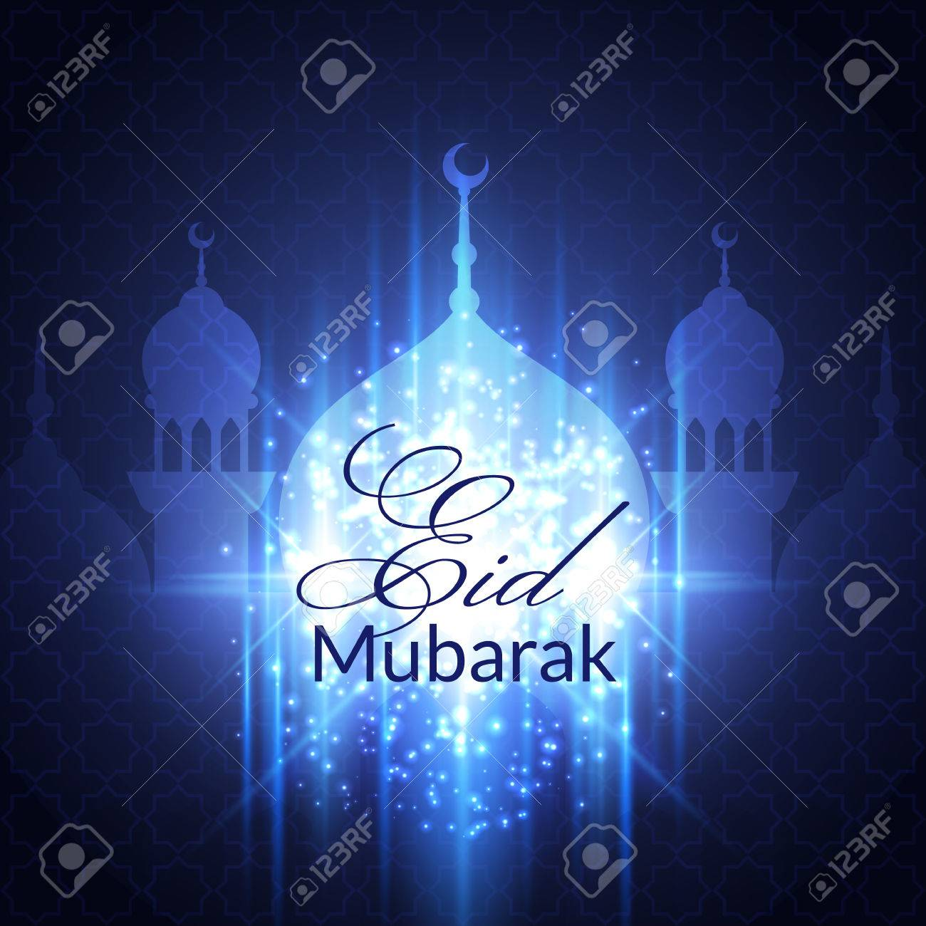Eid mubarak greeting card with mosque and lights royalty free eid mubarak greeting card with mosque and lights stock vector 40132233 kristyandbryce Choice Image