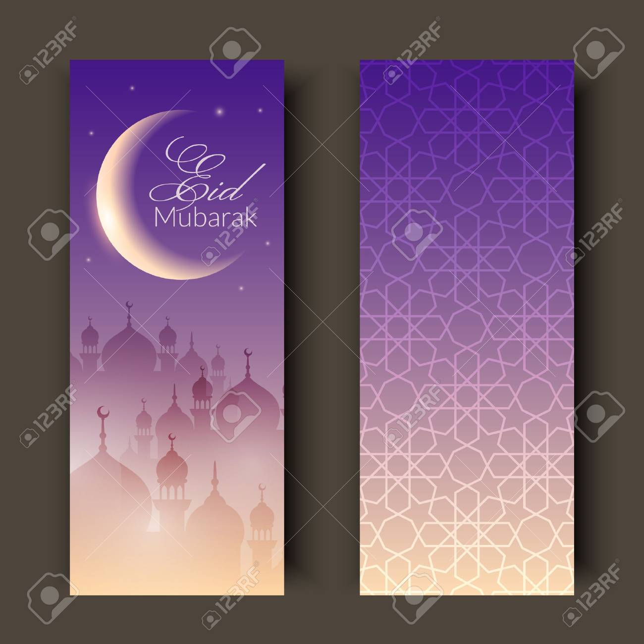 Greeting cards or banners with night landscape with mosques and greeting cards or banners with night landscape with mosques and moon background is decorated with m4hsunfo