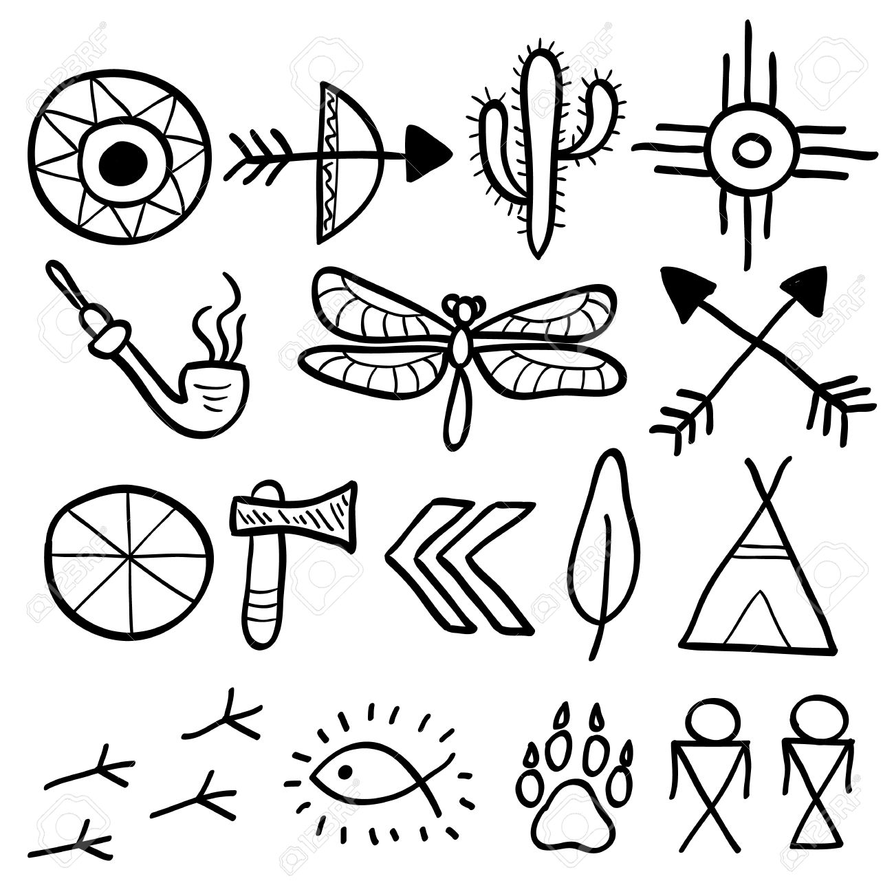 Hand drawn doodle vector elements set vol 7 of 9 native hand drawn doodle vector elements set vol 7 of 9 native american buycottarizona