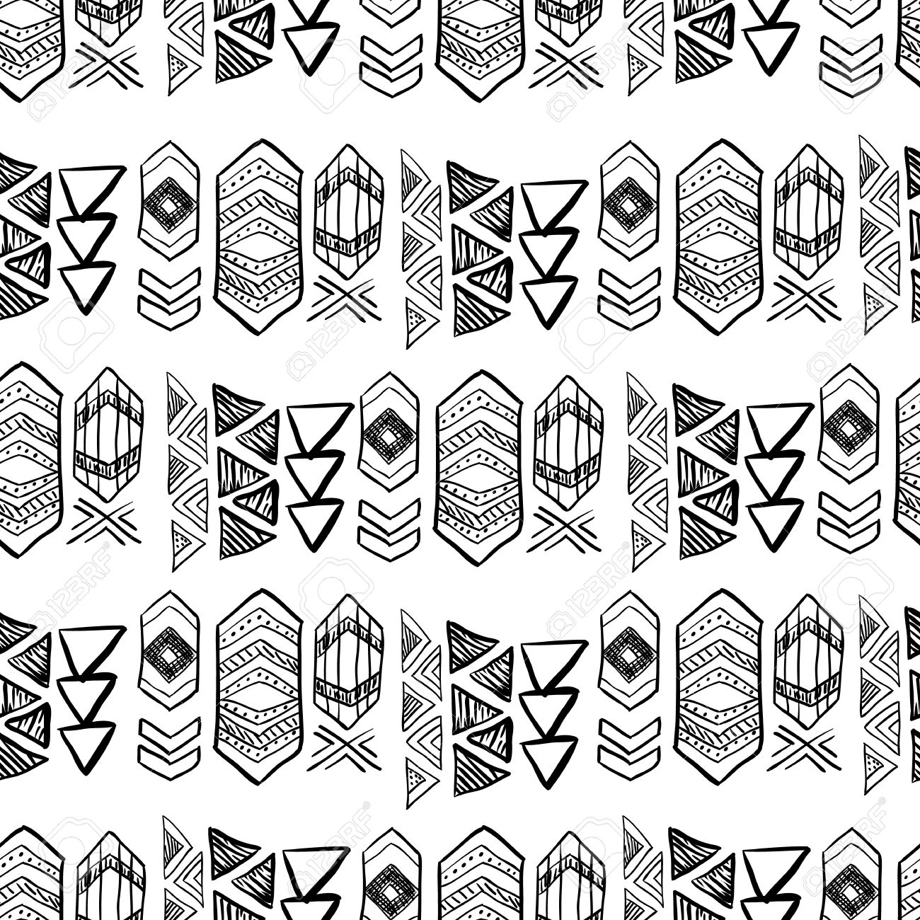 Native american seamless pattern with abstract aztec symbols native american seamless pattern with abstract aztec symbols colored hand drawn doodle vector background for buycottarizona