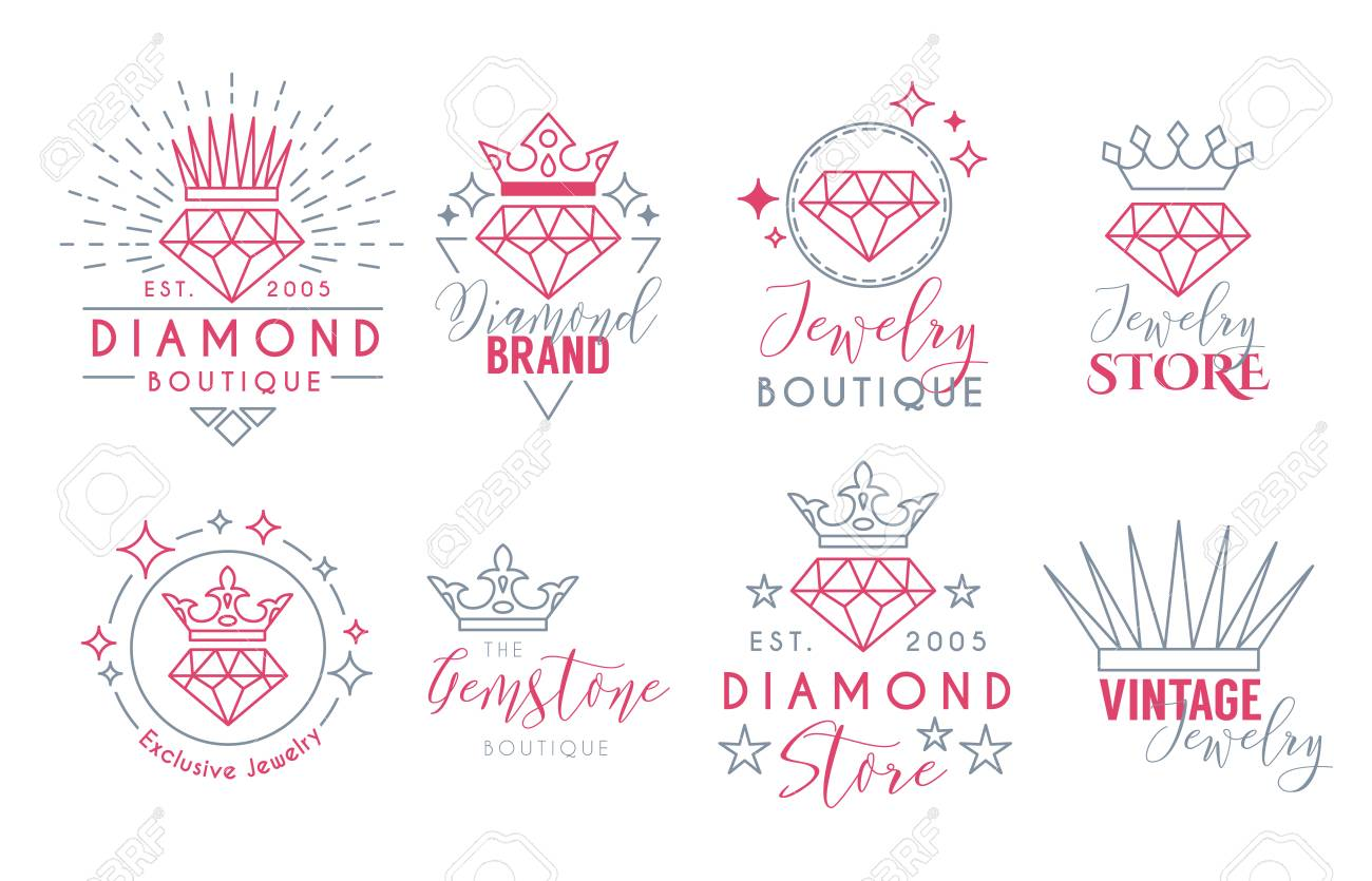 Jewelry logo set or label template for jewelry store jeweler jewelry logo set or label template for jewelry store jeweler business card vector typography colourmoves