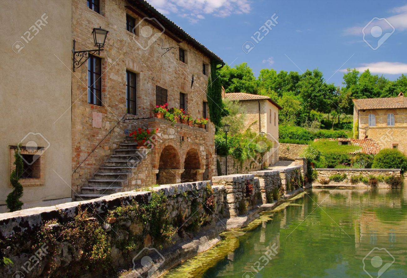 Bagno Vignoni 01 Stock Photo, Picture And Royalty Free Image. Image ...