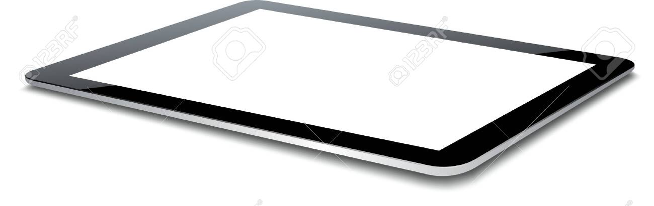 Vector tablet pc isolated on white background. - 150586003
