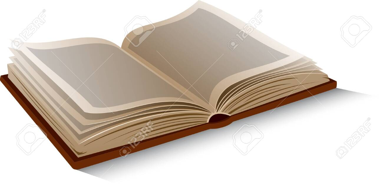 Vector isolated opened book on white background. - 150586613