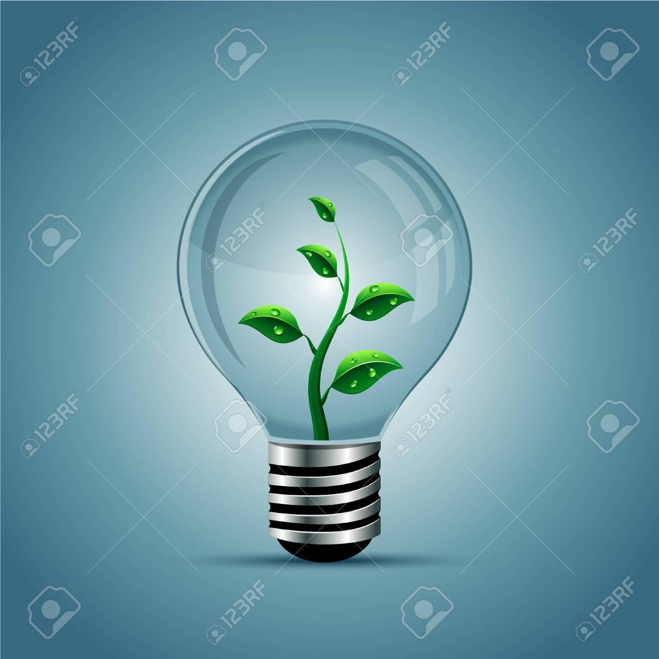 Vector light bulb, eco concept - 150611415