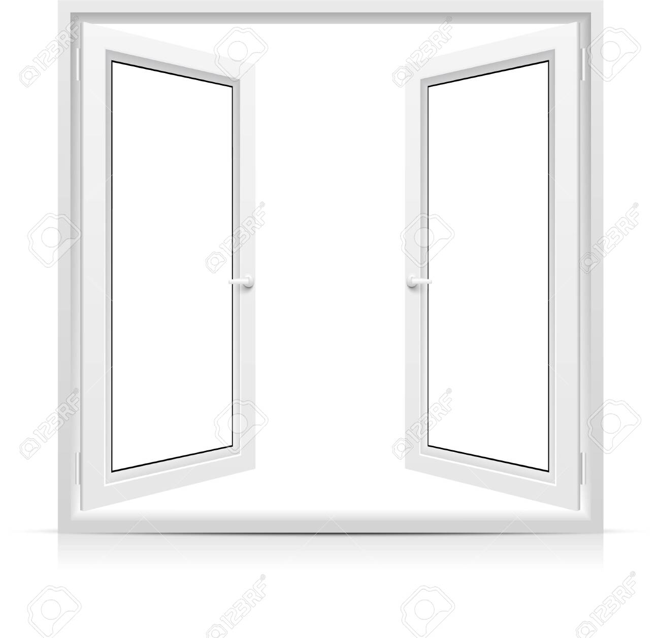 Vector opened window isolated on white background - 150586676