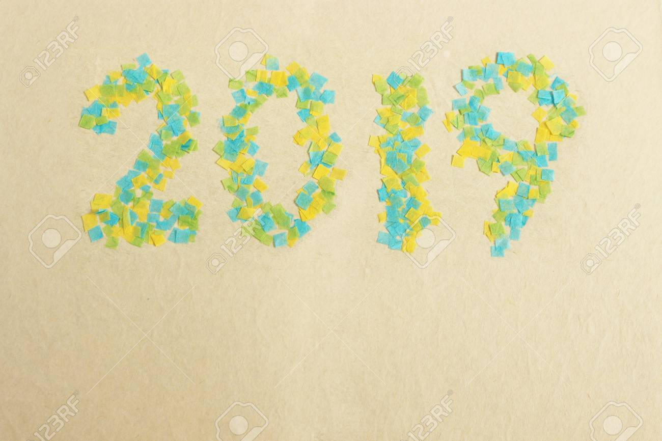 new year 2019 in paper craft natural background stock photo picture rh 123rf com