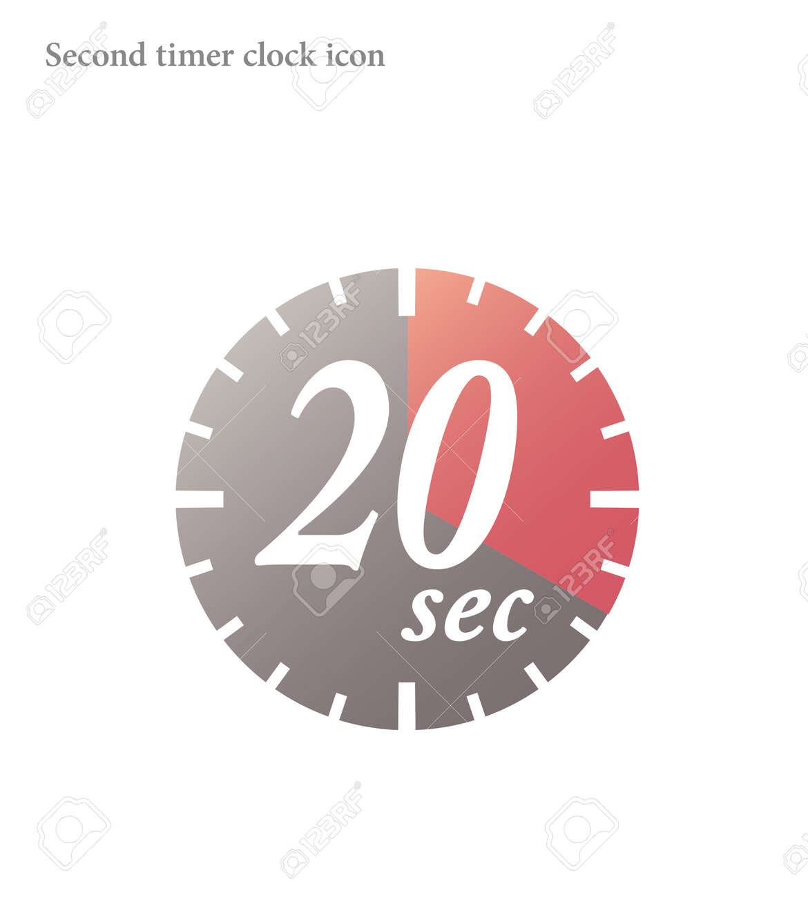 Simple 20 Seconds timer clock icon - 167854264