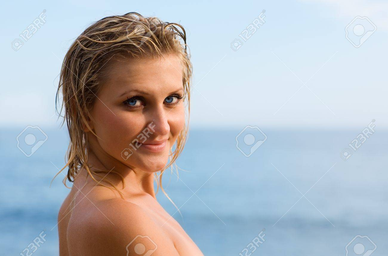 Portrait Of Young Sexy Women With Bare Shoulders. Stock Photo ...