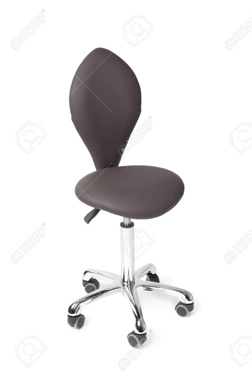 New hairdresser chair isolated on white. Modern design. Stock Photo - 10298794