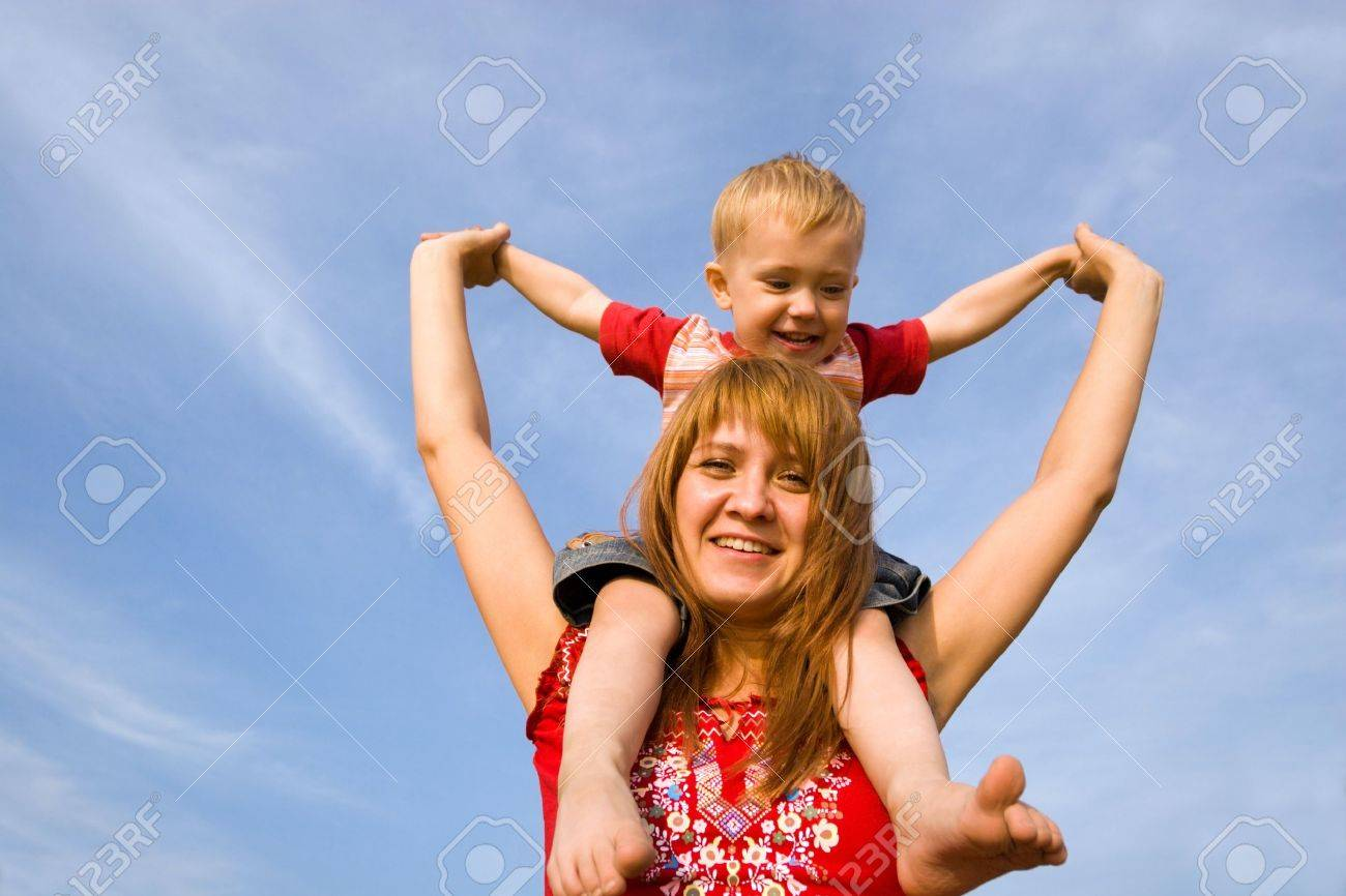 Mom and son. Stock Photo - 10532189