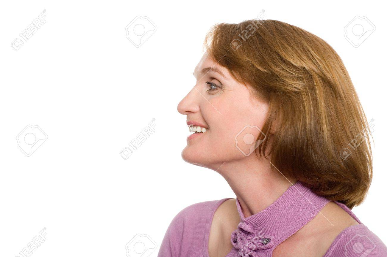 Beautiful smiling middle-aged woman with a happy look. Stock Photo - 10556259