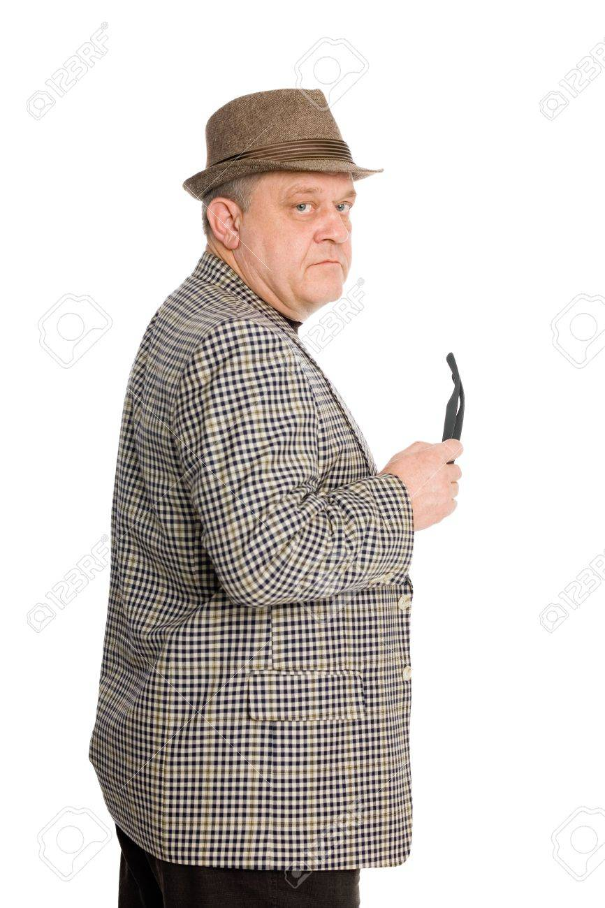 Portrait of a respectable middle aged man in a hat. Stock Photo - 11720638