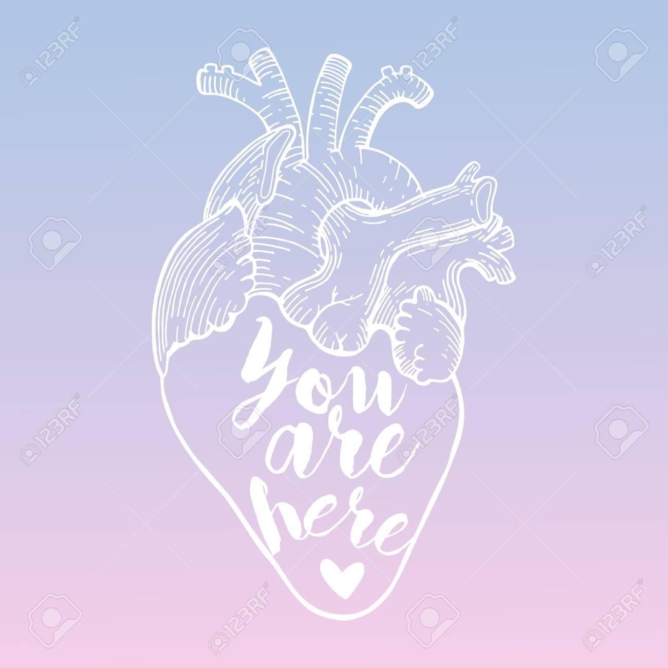 ... cuarzo rosa y la serenidad. Corazón del vector con cita. Estás aquí. En  color Pantone del año 2016 de 2e682838a5e8