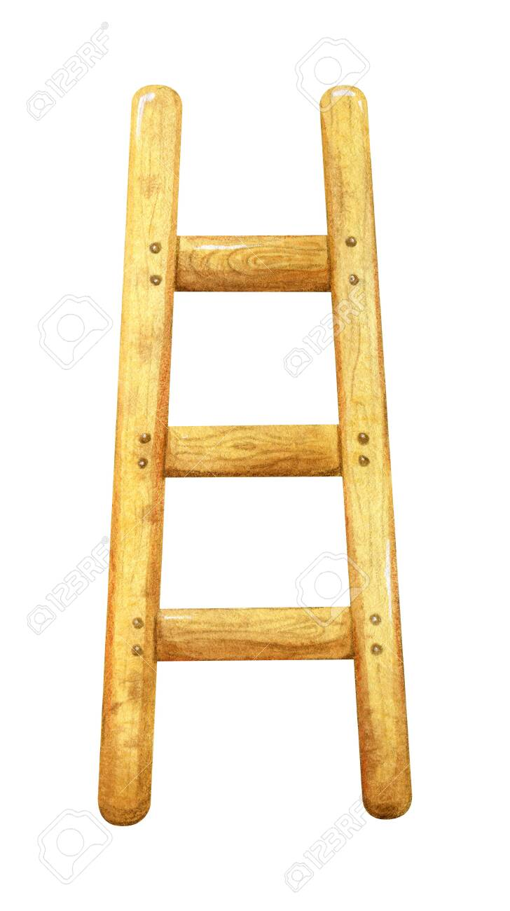 Wooden Ladder Garden Equipment Step Ladder Illustration For Stock Photo Picture And Royalty Free Image Image 142947933