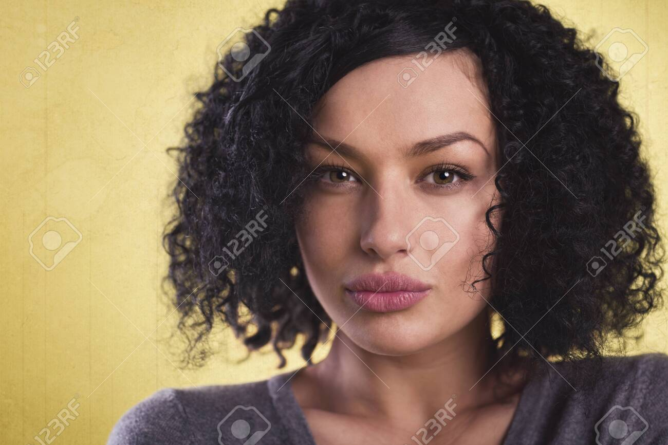 Close up of a beautiful woman with look. - 131944259