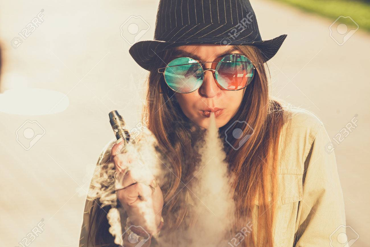 Image result for hipster woman vaping