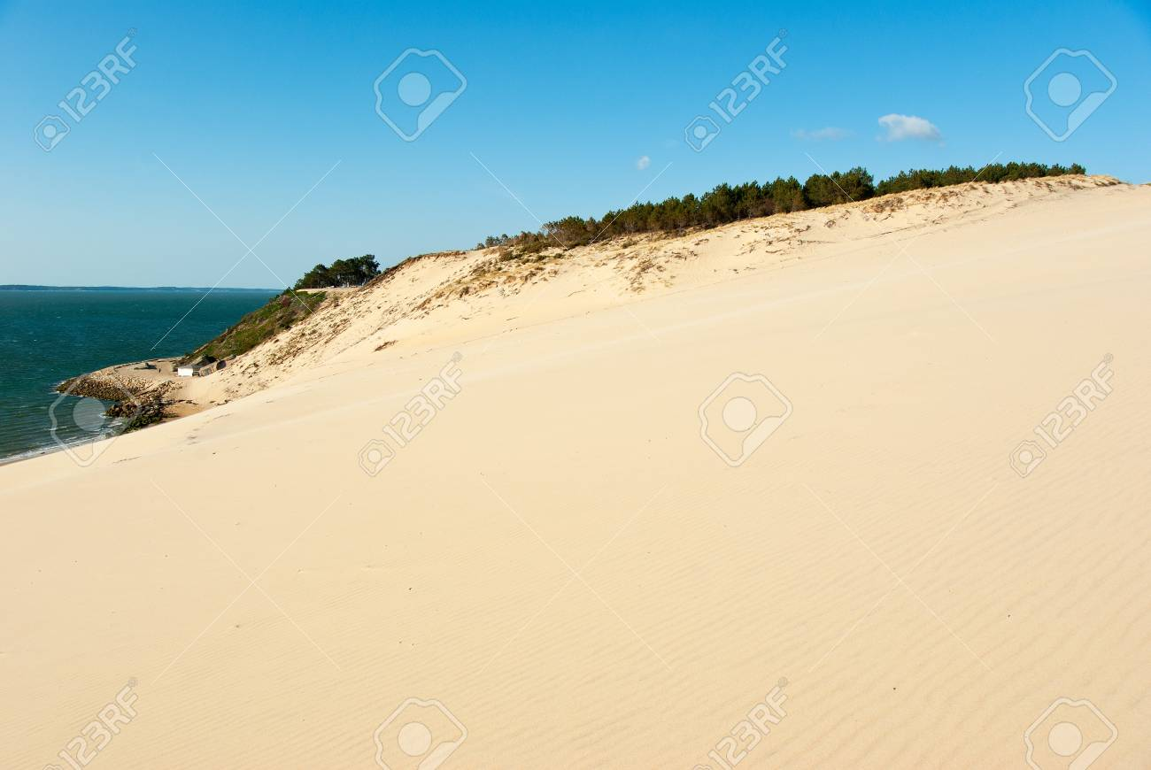 The Great Dune Of Pyla And Arcachon Bay France Stock Photo