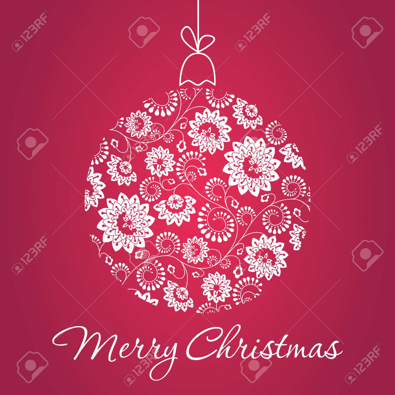 Top Cartolina D'auguri Di Natale Con Palla Di Neve Fatta Di Triangoli  JR07