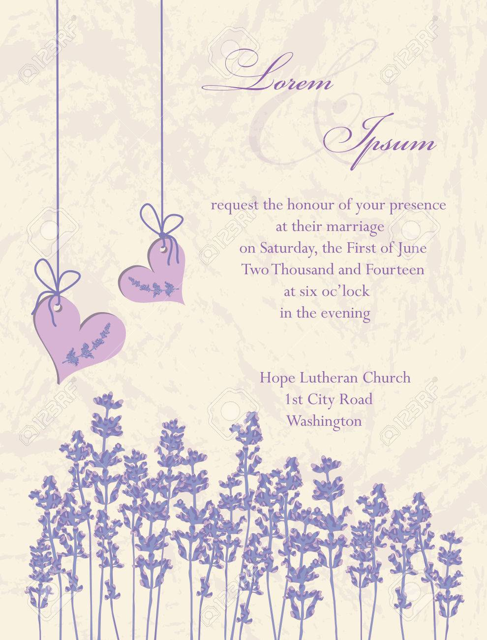 Wedding invitation card flyer design packaging design lavender wedding invitation card flyer design packaging design lavender background product labels stopboris Image collections