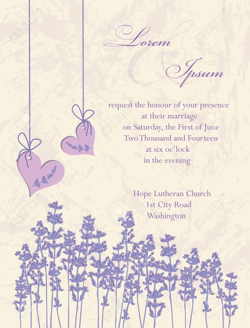 Wedding Invitation Card Flyer Design Packaging Design Lavender