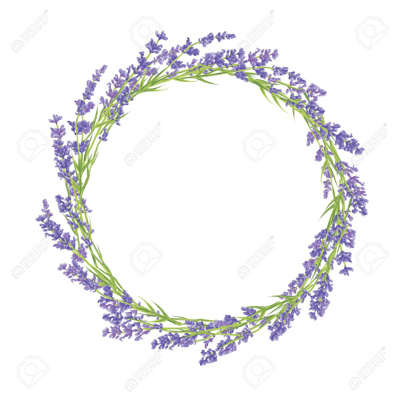 Circle of hand drawn lavender flowers hand drawn design for thank banco de imagens circle of hand drawn lavender flowers hand drawn design for thank you card greeting card or invitation vector illustration stopboris Gallery