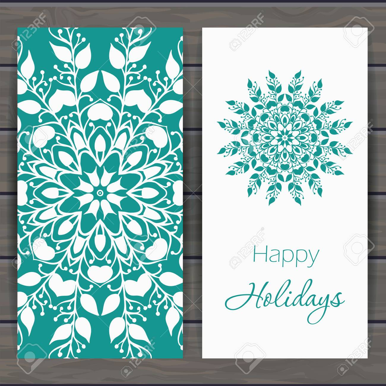 Christmas and new year greeting card with floral snowflake christmas and new year greeting card with floral snowflake design for greeting cards fabric m4hsunfo