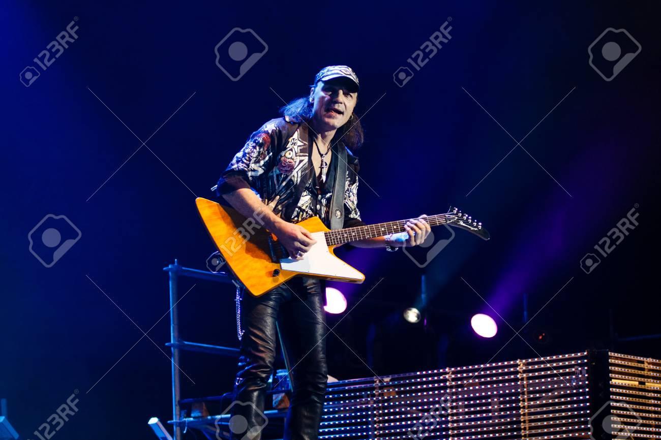 Chelyabinsk Russia - April 22, 2012: Concert of the German rock